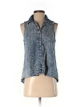 Mimi Chica Sleeveless Button-Down Shirt Size M