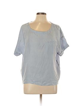 Comptoir des Cotonniers Short Sleeve Silk Top Size Lg (3)