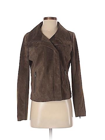 Ecru Leather Jacket Size S