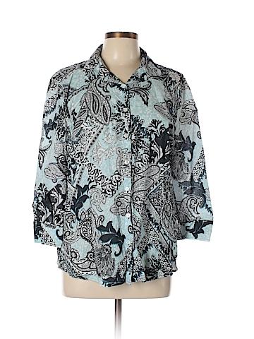 Van Heusen 3/4 Sleeve Button-Down Shirt Size XL