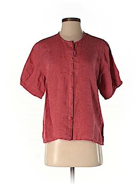 Flax Short Sleeve Button-Down Shirt Size 4 (P)