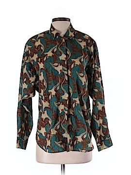 Diane von Furstenberg Long Sleeve Button-Down Shirt Size S