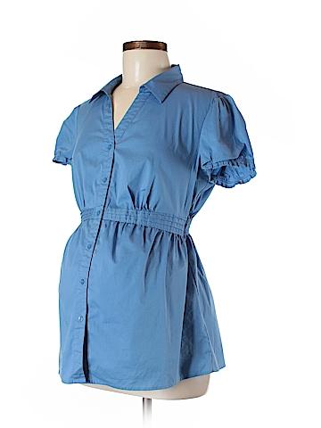 Motherhood Short Sleeve Button-Down Shirt Size M (Maternity)