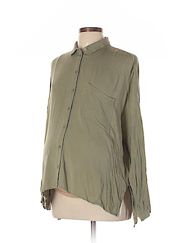 Topshop Maternity Long Sleeve Blouse Size 10 (Maternity)
