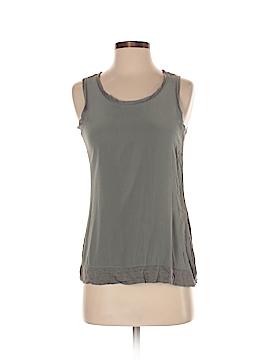 Ecru Sleeveless Silk Top Size S