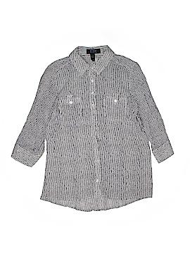 FDJ 3/4 Sleeve Button-Down Shirt Size 6