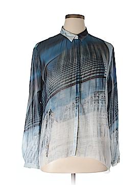 GO Long Sleeve Silk Top Size L
