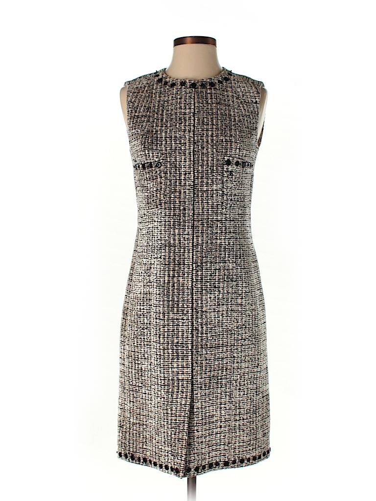 e9d6e183e30 Chanel Tweed Tan Casual Dress Size 38 (EU) - 73% off