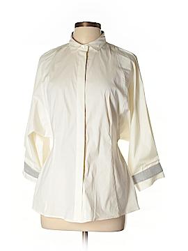 Brunello Cucinelli 3/4 Sleeve Silk Top Size XL
