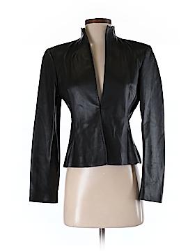 DKNY Leather Jacket Size 4 (Petite)