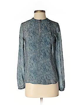 Tory Burch Long Sleeve Silk Top Size 2