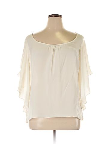 Diane von Furstenberg 3/4 Sleeve Silk Top Size L