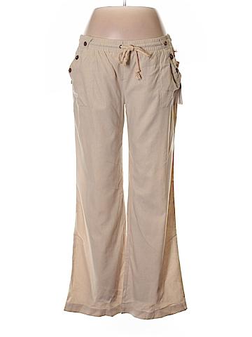 Sapphire Red Linen Pants Size XL