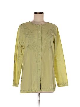 Denim Co Long Sleeve Button-Down Shirt Size M