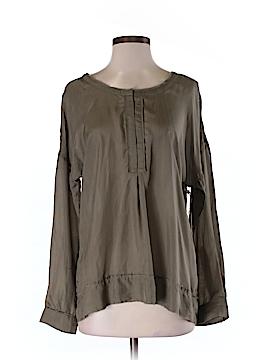 GO Long Sleeve Silk Top Size M