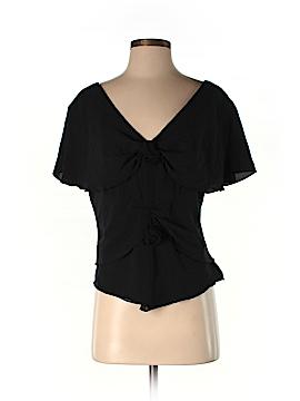 J. Peterman Short Sleeve Silk Top Size M