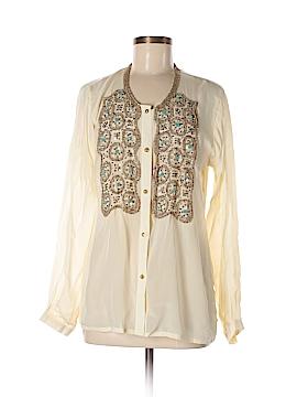 Karina Grimaldi Long Sleeve Silk Top Size M