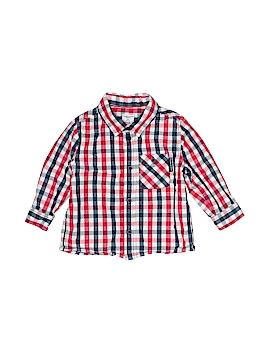Polarn O. Pyret Long Sleeve Button-Down Shirt Size 9-12 mo