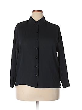 Giorgio Armani Long Sleeve Silk Top Size 46 (IT)