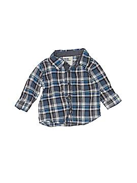 Genuine Kids from Oshkosh Long Sleeve Button-Down Shirt Size 0-3 mo