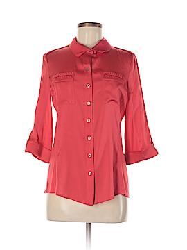 Elie Tahari for 5F Bergdorf Goodman 3/4 Sleeve Silk Top Size M