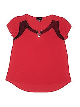 AUW Short Sleeve Blouse Size M
