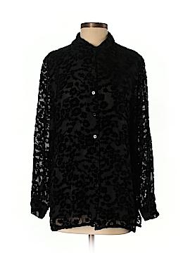 Carole Little Long Sleeve Silk Top Size S