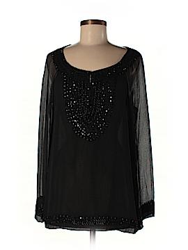 Lafayette 148 New York Long Sleeve Silk Top Size M