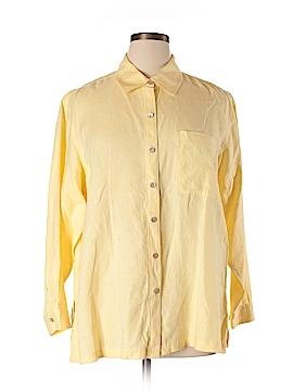 Sigrid Olsen Long Sleeve Button-Down Shirt Size 1X (Plus)
