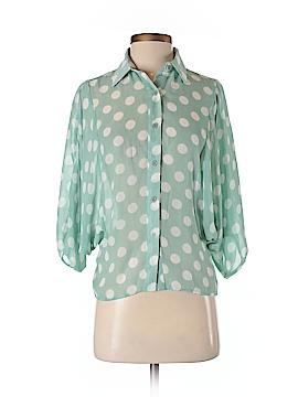 Sans Souci 3/4 Sleeve Button-Down Shirt Size S