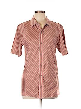 Alfani Short Sleeve Button-Down Shirt Size M
