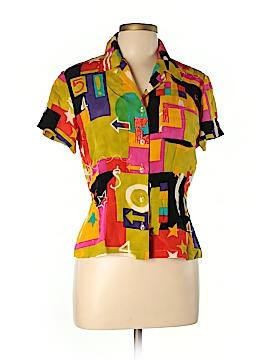 Dana Buchman Short Sleeve Silk Top Size 8 (Petite)