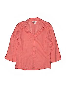 David N 3/4 Sleeve Button-Down Shirt Size M