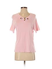 Laura Ashley Women Short Sleeve Blouse Size S