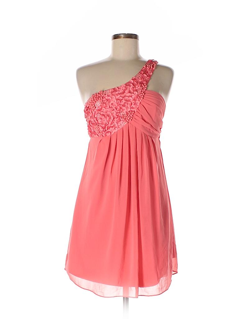 Black 100% Polyester Solid Pink Cocktail Dress Size L - 77% off ...