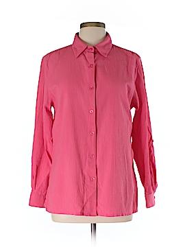 Appleseeds Long Sleeve Button-Down Shirt Size L