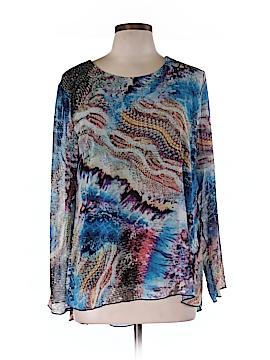 Linea Domani Long Sleeve Blouse Size L