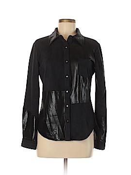 Alberto Makali Long Sleeve Button-Down Shirt Size M