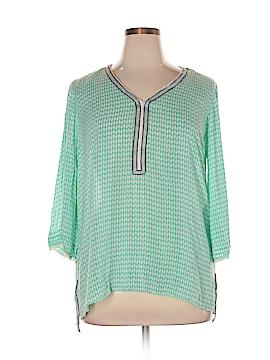 Democracy 3/4 Sleeve Blouse Size XL