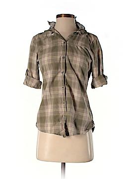 Belle du Tour Girls 3/4 Sleeve Button-Down Shirt Size M