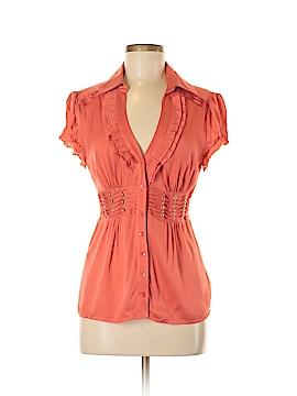Bebe Short Sleeve Silk Top Size M