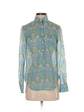 Liberty Art Fabrics for J. Crew Long Sleeve Button-Down Shirt Size 00