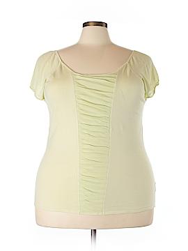 August Silk Short Sleeve Silk Top Size 2X (Plus)