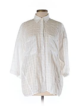Max Studio 3/4 Sleeve Button-Down Shirt Size L