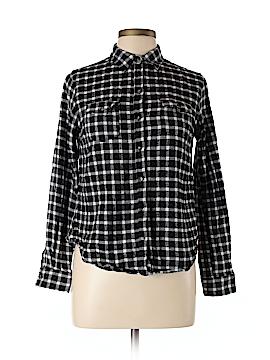 PASSPORTS Long Sleeve Button-Down Shirt Size L