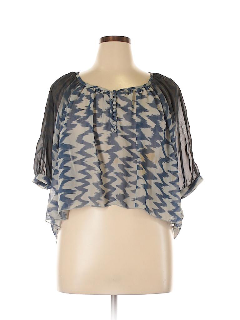 Violet Women 3/4 Sleeve Blouse Size L