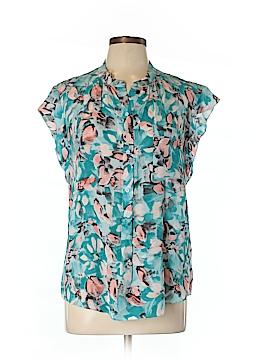 Rebecca Taylor Short Sleeve Silk Top Size 10