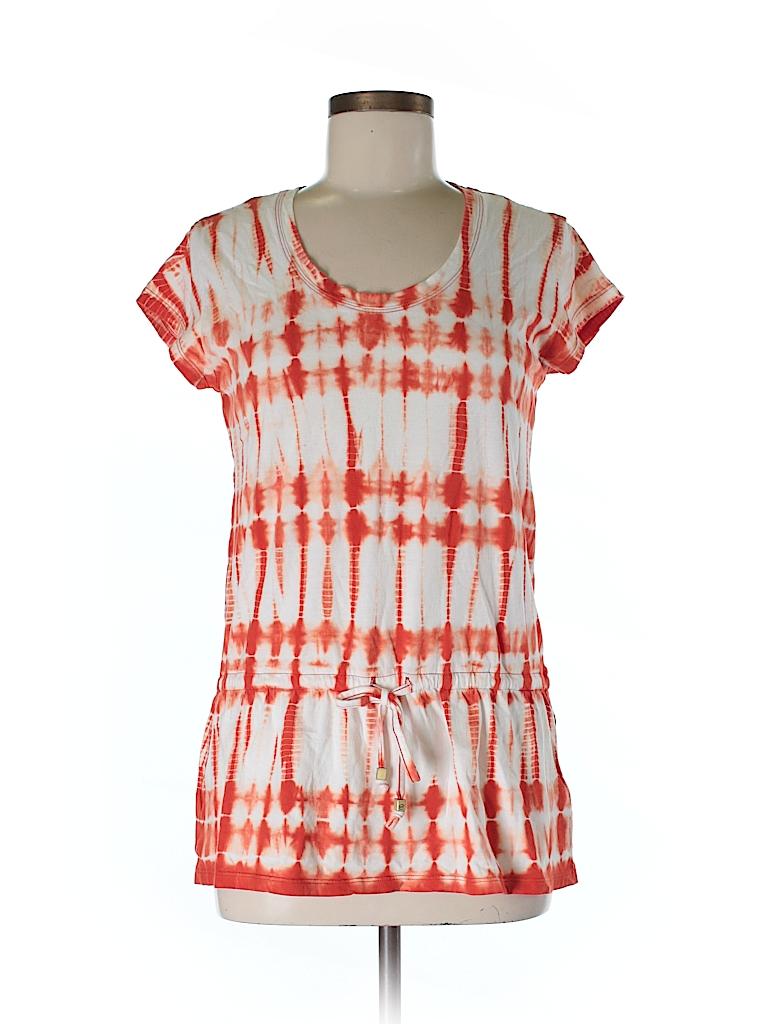 0e9d75d5b93a MICHAEL Michael Kors 100% Cotton Tie Dye Orange Short Sleeve Top ...