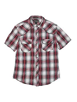 Helix Short Sleeve Button-Down Shirt Size S (Kids)