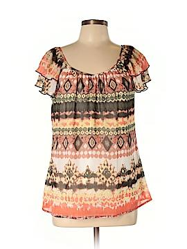 DressBarn Short Sleeve Blouse Size L (Petite)